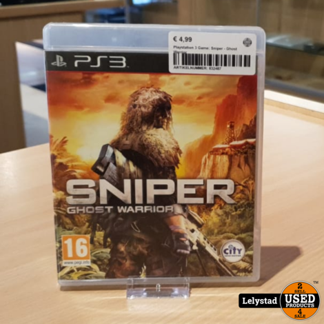 Playstation 3 Game: Sniper - Ghost Warrior