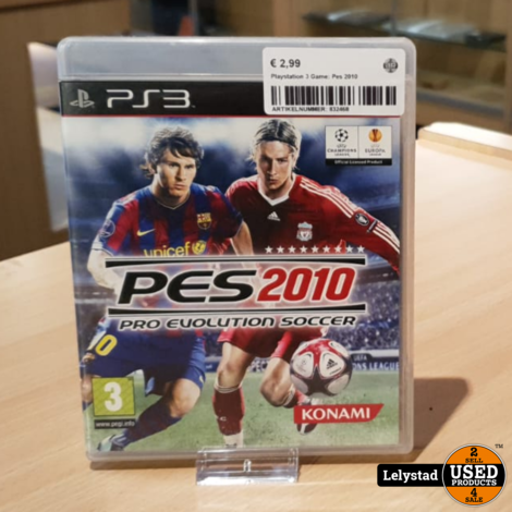 Playstation 3 Game: Pes 2010