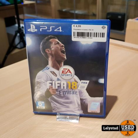 Playstation 4 Game: Fifa 18