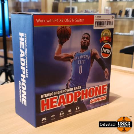 Gaming HeadPhone For PS4 Xbox One Nintendo Switch Zwart/Blauw   Nieuw