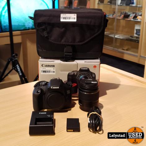 Canon Eos 2000D EFS 18-55mm Macro 0.25m/0.8ft Kitlens Zwart | Nieuwstaat