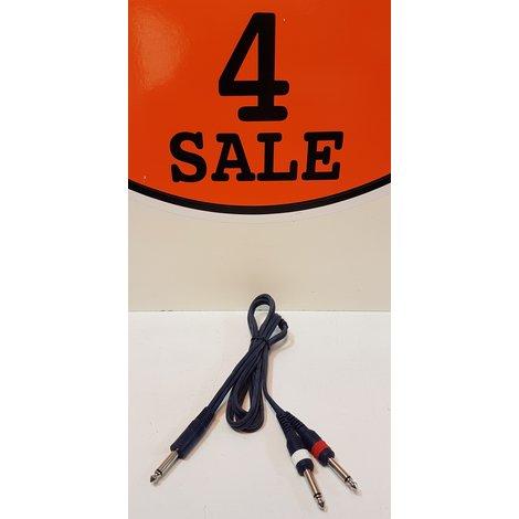 1x Mono Jack (6,3mm) Naar 2x RCA / Tulp (Male) | 1,5 Meter
