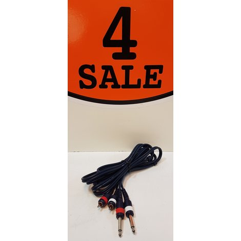 2x Mono Jack (6,3mm) Naar 2x RCA / Tulp (Male)