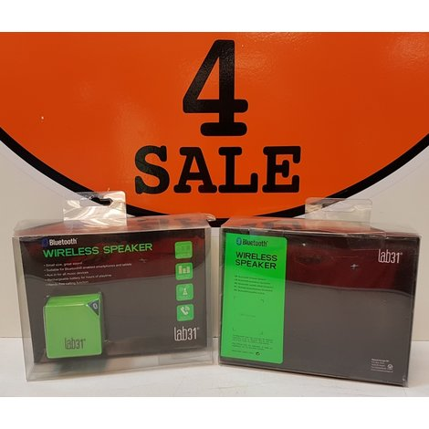 Lab31 Wireless Bluetooth Mini Speaker | Groen (nieuwprijs € 50,-)