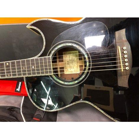 Ibanez JSA10 BK Joe Satriani Signature All-Solid Wood Black Acoustic-Electric Guitar