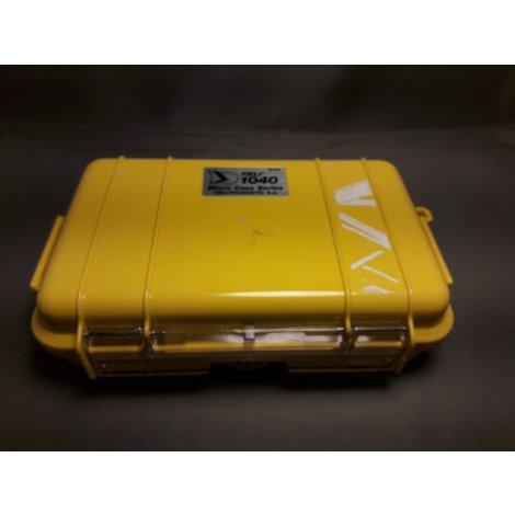 Peli Waterdichte Opberg Case 1040 Micro Geel/Zwart