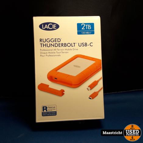 Lacie Rugged Thunderbolt USB-C 2TB harde schijf NIEUW GESEALED!