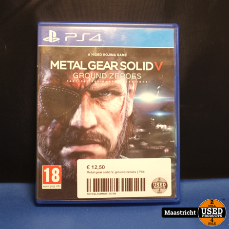 Metal gear solid V, ground zeroes | PS4
