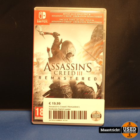 Assassin's Creed 3 Remasterd | Nintendo Switch game
