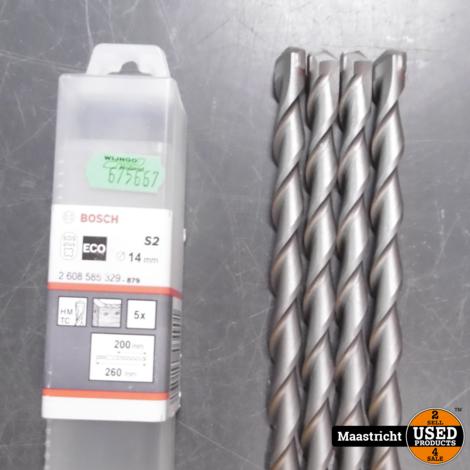 Bosch SDS-plus Hamerboor 14x260mm 4 stuks ongebruikt | nwpr. 32 eu