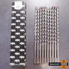 Heller SDS-Plus Hamerboor 12x260mm 10 stuks (9 ongebruikt) | nwpr. 82,- eu