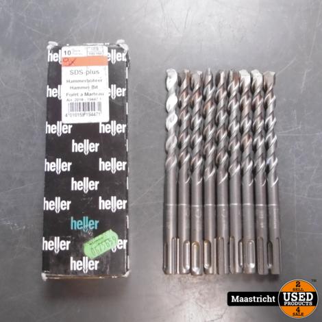 Heller SDS-Plus Hamerboor 10x160mm 9 stuks (8 ongebruikt) | nwpr. 53,- eu