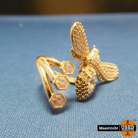 gouden ketting en swarovski ring