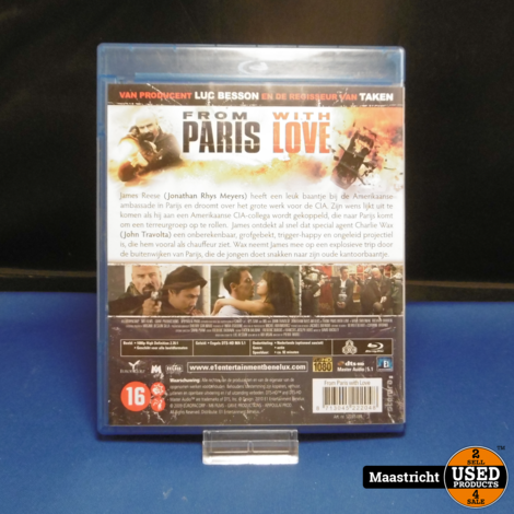 From Paris With Love Blu Ray