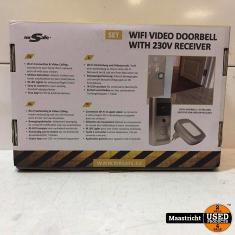 Mr Safe Wifi Video Doorbell   Nieuwprijs €159,95