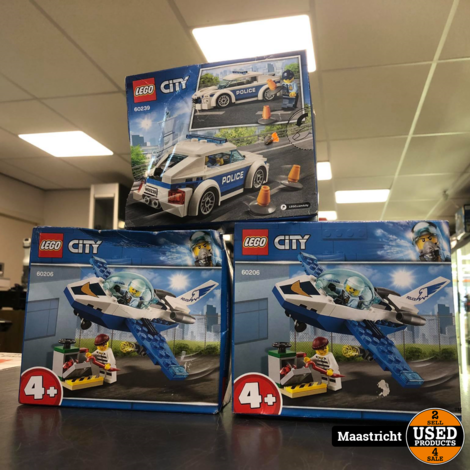 Lego City Politie 3 Dozen *NIEUW