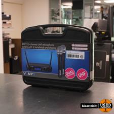 Vonyx WM73 2-Chanel UHF microphone system NIEUW!