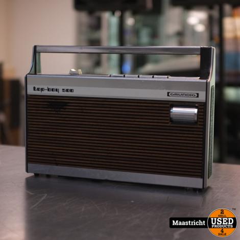 Grundig Top Boy 500  vintage draagbare transistor radio   in gebruikte staat