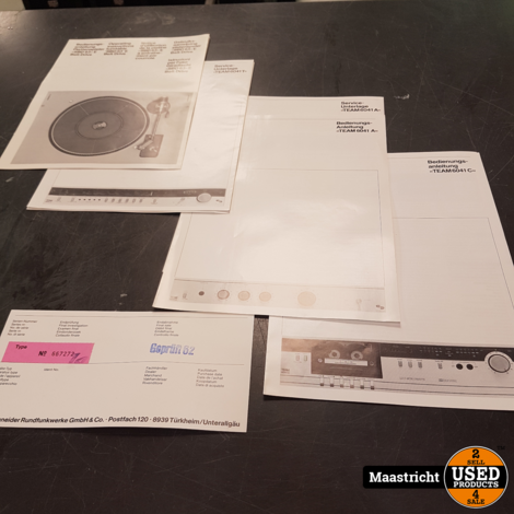 SCHNEIDER TEAM6041 stereo set | NIEUW in doos