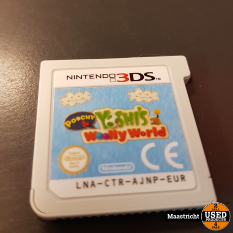 Poochy & Yoshi's Woolly World - N3DS Game - losse cassette