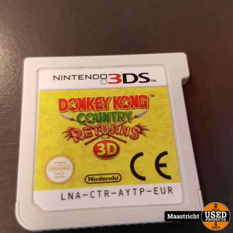 Donkey Kong country returns - N3DS Game - losse cassette