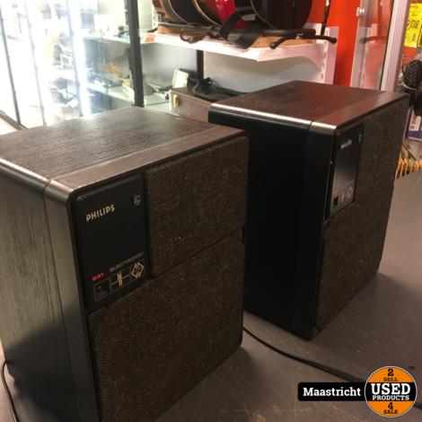 Philips 22RH541 2-weg MFB actieve speakerSET, 30 Watt, hersteld en opgefrist