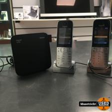 Siemens Gigaset Duo SL785, 2 draadloze huistelefoons + basisstation