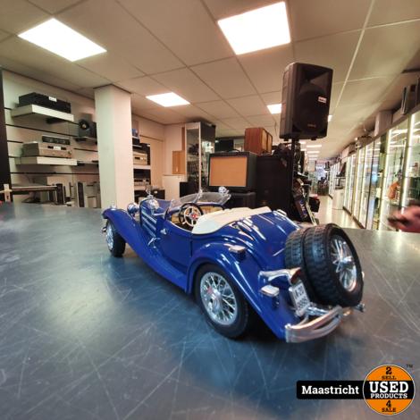 Mercedes Benz 500K roadster 1936 Blauw 1:18