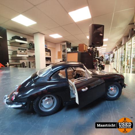 Porsche 356B,1961  zwart | modelauto 1:18  in prima staat (zonder doos)