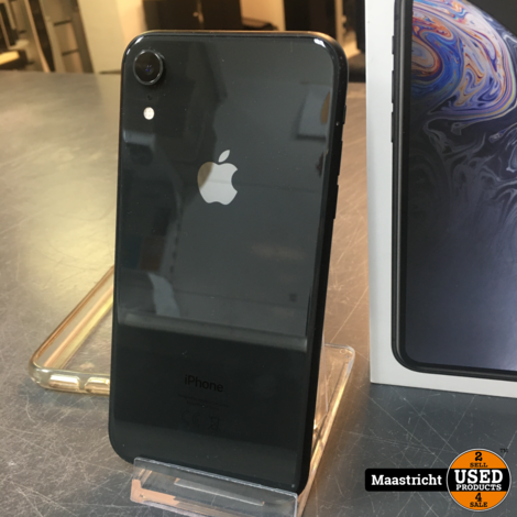 iPhone XR black 64GB, NIEUWstaat, mét garantie, accu 100%