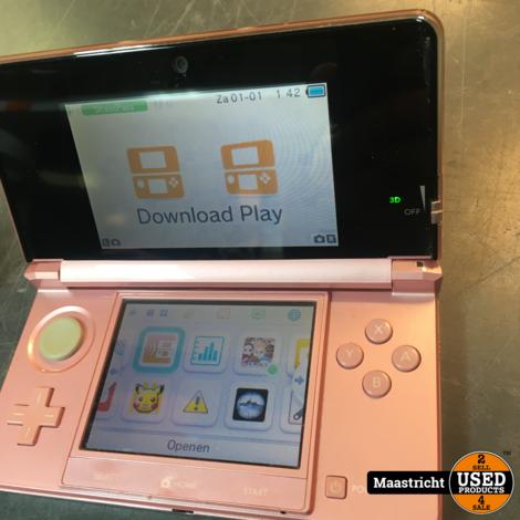 Nintendo 3DS, roze, in zeer goede staat, incl. oplader
