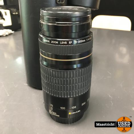 CANON Vintage zoom lens EF 75 - 300 mm. voor full-frame en analoge camera's