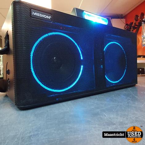 Medion LIFE X61420 Party Speaker met DJ-controller 2 LC-displays