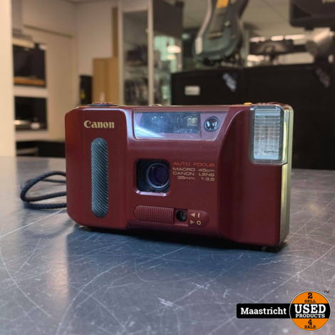 CANON AF35J 35MM Point & Shoot Film Camera Red 35mm f3.5