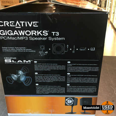 Creative Gigaworks T3  2.1 Speakerset | nwpr 155 euro