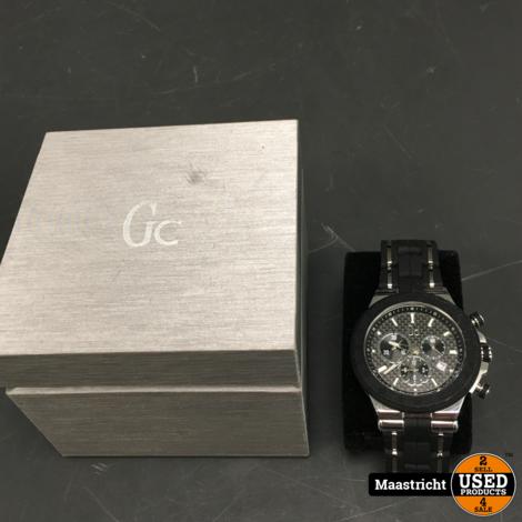 Gc Watches Structura Silver/Black horloge Y35003G2 | NIEUWSTAAT | elders 450 euro