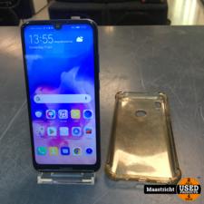Huawei Y6 2019, 32Gb, blauw | scherm 100%, achterkant heeft krassen