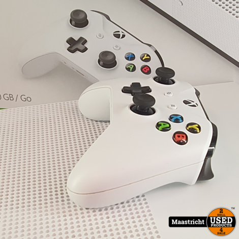 XBOX ONE MICROSOFT XBOX ONE 500GB CONSOLE WHITE   COMPLEET IN DOOS