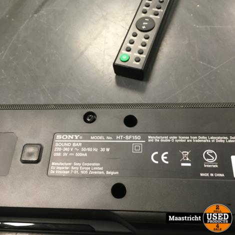Sony HT-SF150 soundbar 2.0 | in prima staat | nwpr 112 euro