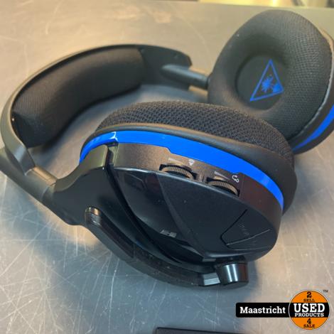 Turtle Beach Stealth 600 Gaming headset Radiografisch 2.4 GHz, USB Draadloos Over Ear Zwart, Blauw