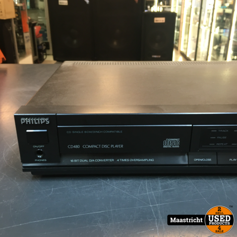 Philips CD480 CD-speler in prima staat