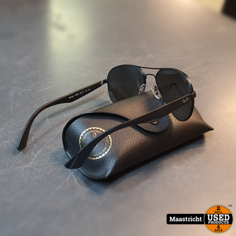 Ray Ban RB3523 zonnebril, zwart met spiegelglazen. nwpr. 145 euro