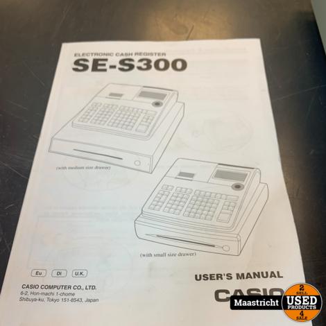 CASIO SE-S300 Kassasysteem