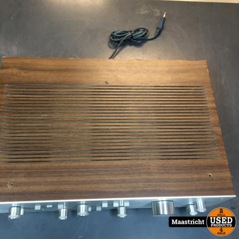 AKAI AM-2400 vintage stereo versterker, 2x 40 Watt met houten kast