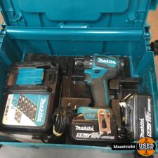 MAKITA DDF083 18V boor-/schroefmachine met 2 accu's en lader   nwpr 417 euro