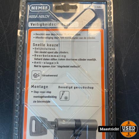 Nemef cilinder SKG** 111/9 gelijksluitend | NIEUW | elders 125 euro
