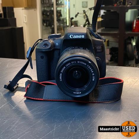 CANON EOS 750D spiegelreflex camera + lader