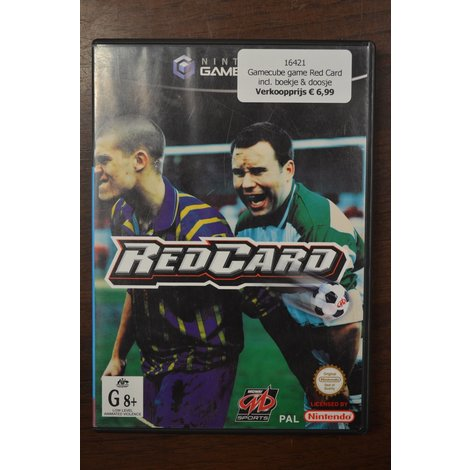 Gamecube game Red Card incl. boekje & doosje