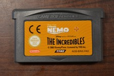 Gameboy Advance game Finding Nemo + The Incredibles