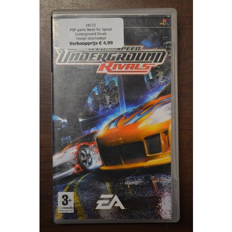 PSP game Need for Speed Underground Rivals - hoesje beschadigd